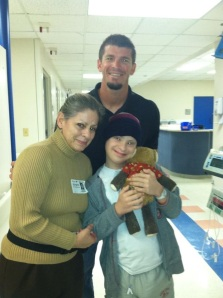 Visiting patients at Jackson Memorial Hospital in Miami. 2/13. Photo courtesy of the Proctor family